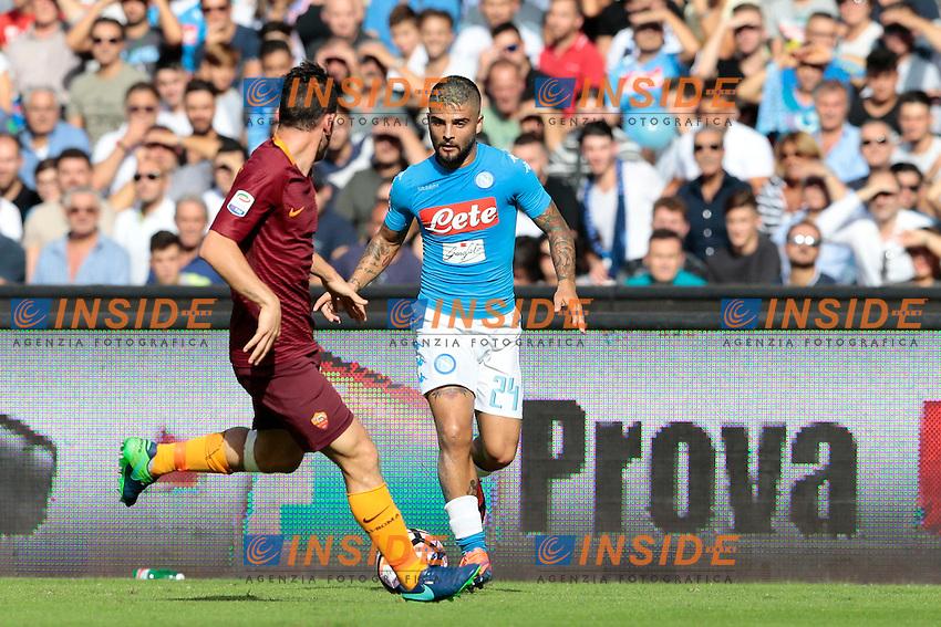 Lorenzo Insigne Napoli,<br /> Napoli 15-10-2016  Stadio San Paolo <br /> Campionato Serie A Napoli - AS Roma <br /> Foto Cesare Purini / Insidefoto