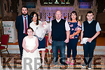Baby Abbey Rose with her parents Stephanie & Daniel Enright, Listowel and god parents John Ross & Linda Greaney and sister Shannon & brother Sam who was christened in St. Mary's Church. Listowel by Canon Declan O'Connor on Saturday last and afterwards at Christy's Bar, Listowel.