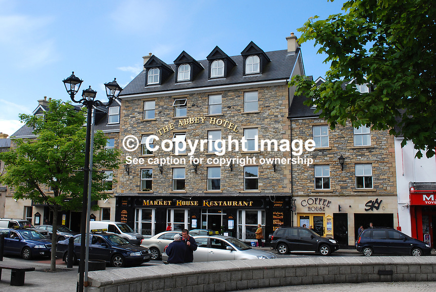 Abbey Hotel, The Diamond, Donegal Town, Ireland, 200905192516..Copyright Image from Victor Patterson, 54 Dorchester Park, Belfast, UK, BT9 6RJ..Tel: +44 28 9066 1296.Mob: +44 7802 353836.Voicemail +44 20 8816 7153.Skype: victorpattersonbelfast.Email: victorpatterson@mac.com.Email: victorpatterson@ireland.com (back-up)..IMPORTANT: If you wish to use this image or any other of my images please go to www.victorpatterson.com and click on the Terms & Conditions. Then contact me by email or phone with the reference number(s) of the image(s) concerned.