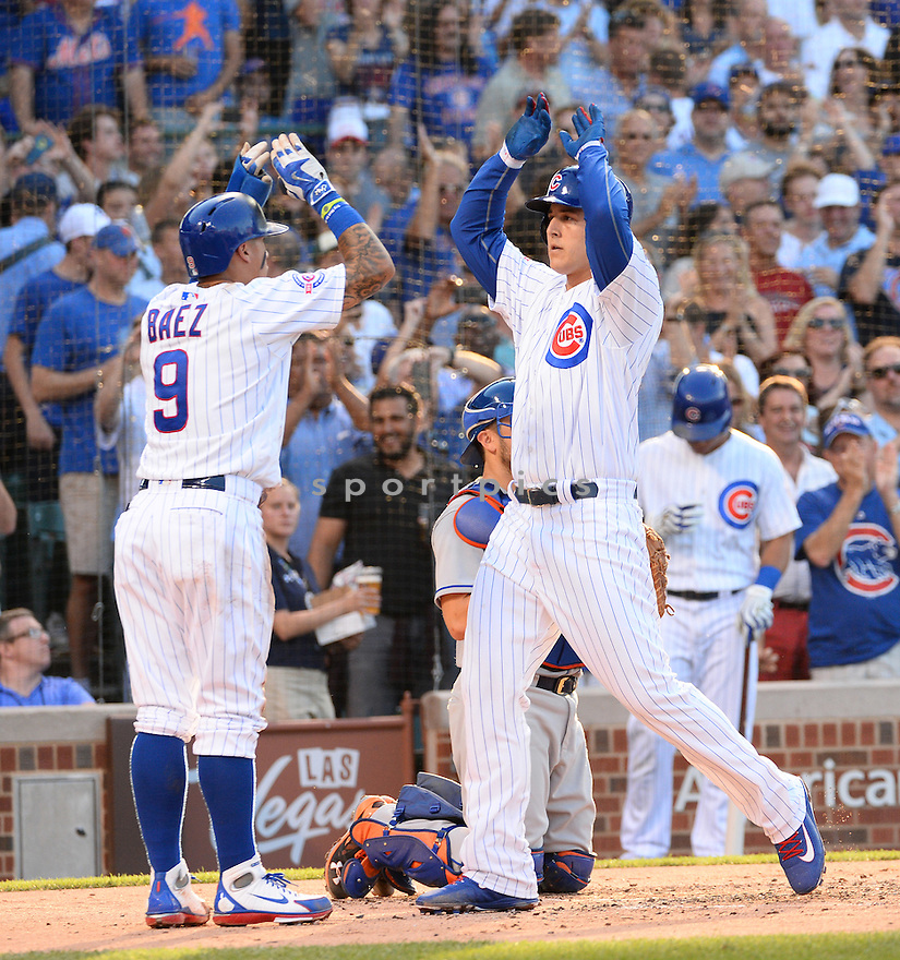 Chicago Cubs Anthony Rizzo (44) during a game against the New York Mets on July 18, 2016 at Wrigley Field in Chicago, IL. The Cubs beat the Mets 5-1.