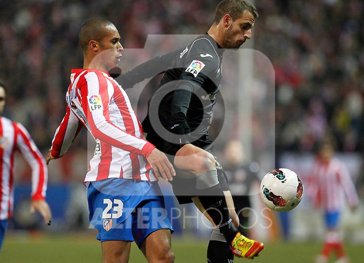 Madrid (05/02/2012) LIGA BBVA.Atletico de Madrid- Valencia C.F...MIRANDA, SOLDADO.....