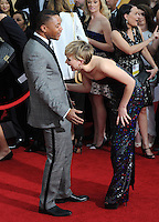 Jennifer Lawrence &amp; Cuba Gooding Jr. at the 20th Annual Screen Actors Guild Awards at the Shrine Auditorium.<br /> January 18, 2014  Los Angeles, CA<br /> Picture: Paul Smith / Featureflash