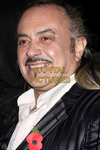 WAGNER CARRILHO.'Harry Potter And The Deathly Hallows: Part 1' world film premiere, Empire cinema Leicester Square and Odeon Leicester Square, London, England 11th November 2010 .headshot portrait black moustache mustache soul patch facial hair white poppy x factor gold teeth.CAP/AH.©Adam Houghton/Capital Pictures.