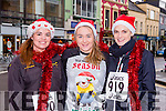 Aisling O'donoghue, Michelle Fleming and Rebecca Willims at the Christmas in Killarney 5k on Sunday