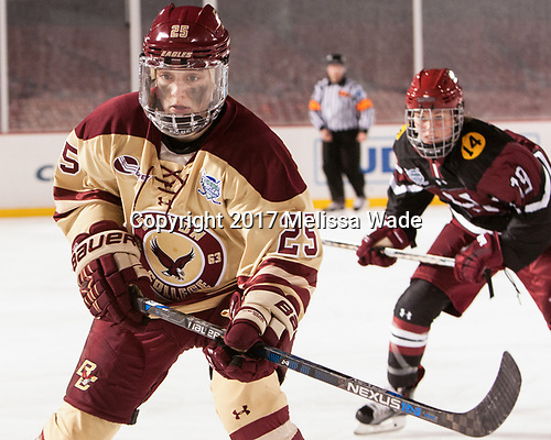 Caroline Ross (BC - 25) - The Boston College Eagles defeated the Harvard University Crimson 3-1 on Tuesday, January 10, 2017, at Fenway Park in Boston, Massachusetts.The Boston College Eagles defeated the Harvard University Crimson 3-1 on Tuesday, January 10, 2017, at Fenway Park.