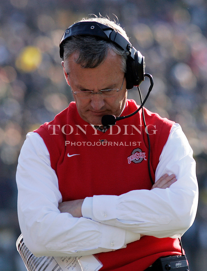 19 Nov 2005: OSU head coach Jim Tressel during Ohio State's 25-21 victory over Michigan at Michigan Stadium in Ann Arbor, MI.