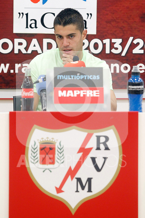 Rayo Vallecano's new player Iago Falque during his official presentation. August 22, 2011. (ALTERPHOTOS/Acero)