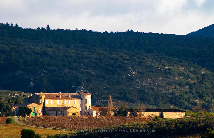 Chateau Villerambert-Julien near Caunes-Minervois. Minervois. Languedoc. France. Europe. Vineyard.