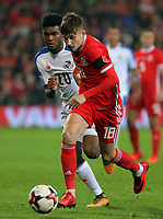 David Brooks of Wales in action during the international friendly soccer match between Wales and Panama at Cardiff City Stadium, Cardiff, Wales, UK. Tuesday 14 November 2017.