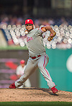 15 September 2013: Philadelphia Phillies pitcher Luis Garcia on the mound against the Washington Nationals at Nationals Park in Washington, DC. The Nationals took the rubber match of their 3-game series 11-2 to keep Washington's wildcard hopes alive. Mandatory Credit: Ed Wolfstein Photo *** RAW (NEF) Image File Available ***