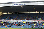 Sparse crowd at Ibrox