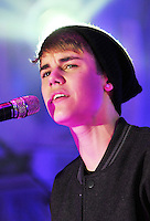 Justin Bieber switching-on Stratford City Christmas Lights - Live on stage, UK, 07 November 2011