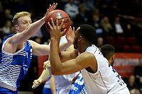 GRONINGEN - Basketbal, Donar - Landstede Zwolle, Supercup seizoen 2017-2018, 05-10-2017, Donar speler Stephen Domingo met Landstede speler Olaf Schaftenaar