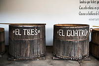Fermenting agave at the Palenque (distillary). Mezcal Real Minero, Ocotlan de Morelos, Oaxaca, Oaxaca, Mexico