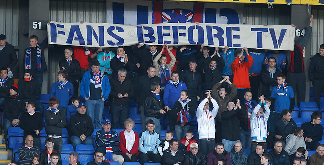 Rangers fans not happy with a 6pm evening kick off for TV