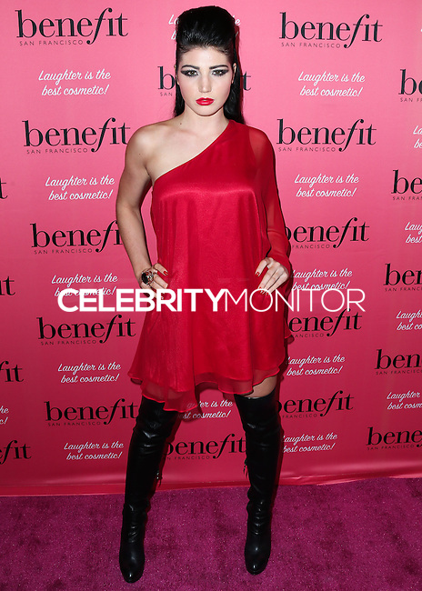 HOLLYWOOD, LOS ANGELES, CA, USA - SEPTEMBER 26: N0vel arrives at the Benefit Cosmetics: Wing Woman Weekend Kick-Off Party held at the Benefit Tattoo Parlor on September 26, 2014 in Hollywood, Los Angeles, California, United States. (Photo by Xavier Collin/Celebrity Monitor)