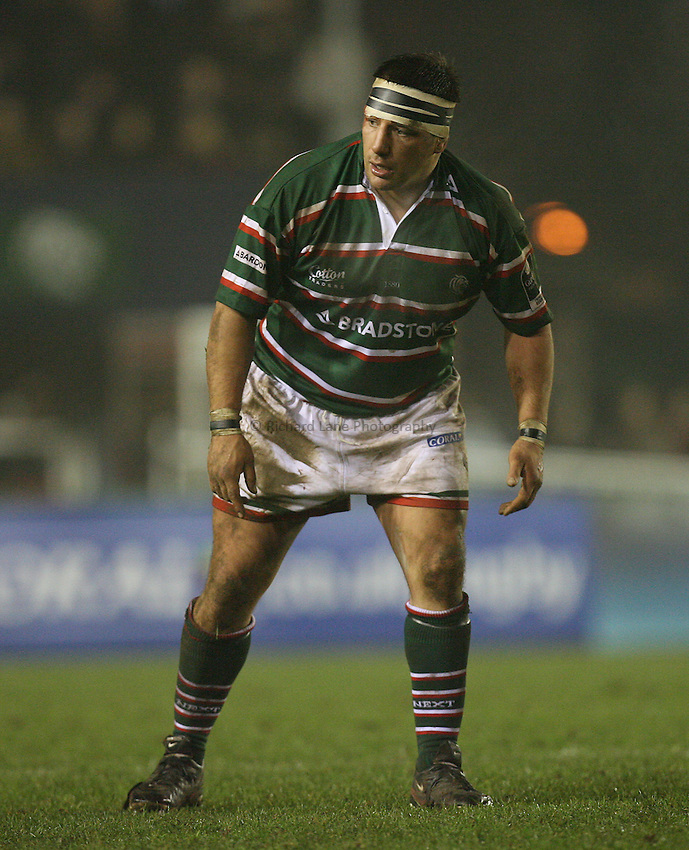 Photo: Rich Eaton...Leicester Tigers v Bristol Rugby. Guinness Premiership. 22/12/2006. Julian White of Leicester.