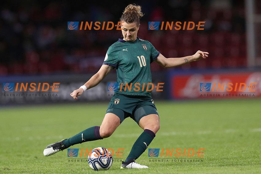 Cristiana Girelli of Italy<br /> Benevento 08-11-2019 Stadio Ciro Vigorito <br /> Football UEFA Women's EURO 2021 <br /> Qualifying round - Group B <br /> Italy - Georgia<br /> Photo Cesare Purini / Insidefoto