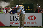 Francesco Molinari tees off on the 9th tee during Day 2 Friday of the Abu Dhabi HSBC Golf Championship, 21st January 2011..(Picture Eoin Clarke/www.golffile.ie)