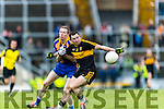 Daithí Casey Dr Crokes in action against Kieran O'Neill Kenmare District in the Senior County Football Championship final at Fitzgerald Stadium on Sunday.