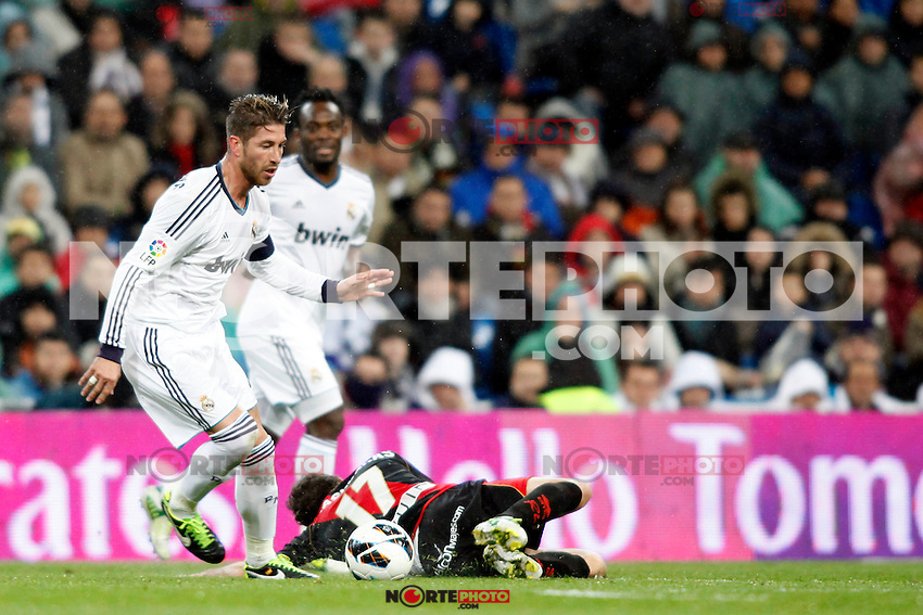 Real Madrid vs Rayo Vallecano during La Liga Match, in the pic: Sergio Ramos. February 17, 2013. (ALTERPHOTOS/Caro Marin) /NortePhoto