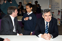 Prime Minister Gordon Brown visits DCSF Sanctuary Buildings