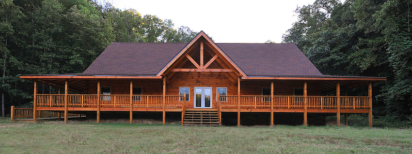 The Leon and Rachel Gathany Museum of Natural History at Toccoa Falls College is a rustic log building that will house Georgia Naturalist and Toccoa Falls College alumni Leon Gathany's extensive collection of mounted mammals & birds, prehistoric fossils, native American artifacts and more. It will also be a center for outdoor & environmental education. (Bob Gathany Photographer)