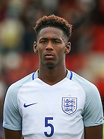 Reece Oxford (West Ham United) of England during the International match between England U20 and Brazil U20 at the Aggborough Stadium, Kidderminster, England on 4 September 2016. Photo by Andy Rowland / PRiME Media Images.