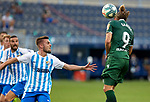 Christian Santos (RC Deportivo de la Coruna) seen in action during La Liga Smartbank match round 39 between Malaga CF and RC Deportivo de la Coruna at La Rosaleda Stadium in Malaga, Spain, as the season resumed following a three-month absence due to the novel coronavirus COVID-19 pandemic. Jul 03, 2020. (ALTERPHOTOS/Manu R.B.)