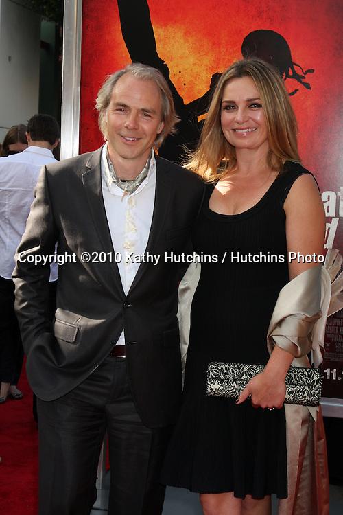 "Harald Zwart & wife Veslemøy Ruud Zwart.arrives at ""The Karate Kid"" Movie Premire.Village Theater.Westwood, CA.June 7, 2010.©2010 Kathy Hutchins / Hutchins Photo.."