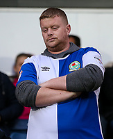 Blackburn Rovers supporter<br /> <br /> Photographer Andrew Kearns/CameraSport<br /> <br /> The EFL Checkatrade Trophy - Blackburn Rovers v Stoke City U23s - Tuesday 29th August 2017 - Ewood Park - Blackburn<br />  <br /> World Copyright &copy; 2018 CameraSport. All rights reserved. 43 Linden Ave. Countesthorpe. Leicester. England. LE8 5PG - Tel: +44 (0) 116 277 4147 - admin@camerasport.com - www.camerasport.com