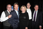 Playwright Bruce Graham, Peter Strauss, Michael Learned, Ian Lithgow and Director Bud Martin attending the Off- Broadway Opening Night Performance After Party for the Delaware Theatre Company Production of 'The Outgoing Tide'  at Lavo in New York City on 11/20/2012.