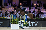 Max Kuhner of Austria riding PSG Future competes in the Masters One DBS during the Longines Masters of Hong Kong at AsiaWorld-Expo on 11 February 2018, in Hong Kong, Hong Kong. Photo by Ian Walton / Power Sport Images