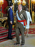 Juan Carlos I King of Spain attends the Royal Palace reception on the National Military Parade.October 12,2012.(ALTERPHOTOS/Pool)
