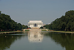 Washington DC; USA: The Reflecting Pool on the National Mall, with the Lincoln Memorial in the background.Photo copyright Lee Foster Photo # 5-washdc83214.