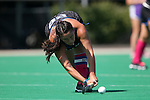 02 October 2016: Duke's Alyssa Chillano. The Duke University Blue Devils hosted the Boston University Terriers at Jack Katz Stadium in Durham, North Carolina in a 2016 NCAA Division I Field Hockey match. Duke won the game 2-1.