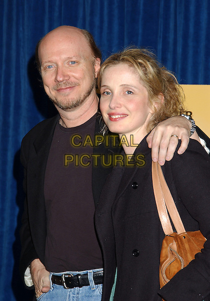 PAUL HAGGIS & JULIE DELPY.Beyond Words. The Writers Guild of America/West Gala event and panel discussion with Academy Award nominated writers held at the Writers Guild of America, Beverly Hills, California, USA, February 17th 2005..half length.www.capitalpictures.com.sales@capitalpictures.com.©LFarr/AdMedia/Capital Pictures ...