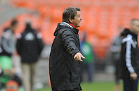 Washington, D.C.- March 29, 2014. Frank Yallop Chicago Fire Head Coach.  The Chicago Fire tied D.C. United 2-2 during a Major League Soccer Match for the 2014 season at RFK Stadium.