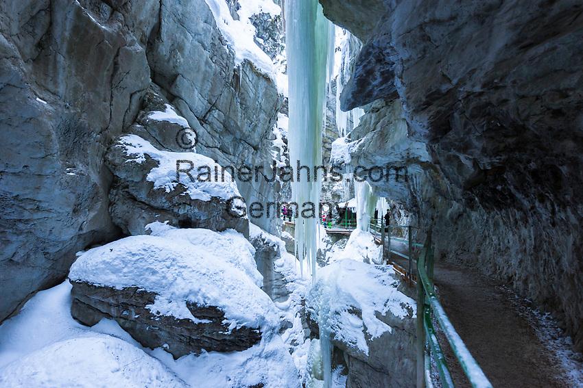 Deutschland, Bayern, Schwaben, Oberallgaeu, Oberstdorf, Ortsteil Tiefenbach: die Breitachklamm   Germany, Bavaria, Swabia, Upper Allgaeu, Oberstdorf, district Tiefenbach: gorge Breitachklamm