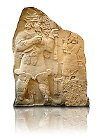 Moulding of 8th Cent. BC late Hittite rock relief . Warpalas, King of Tyana land, praying in front of a plant & storm god Tarhunza. From Ivriz (Konya, Ergeli) Turkey. Istanbul Archaeological Museum Inv. No 7869.