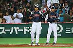 (L to R) .Nobuhiro Matsuda (JPN), . Koichi Ogata (JPN), .MARCH 2, 2013 - WBC : .2013 World Baseball Classic .1st Round Pool A .between Japan 5-3 Brazil .at Yafuoku Dome, Fukuoka, Japan. .(Photo by YUTAKA/AFLO SPORT) [1040]