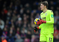 Crystal Palace's Wayne Hennessey<br /> <br /> Photographer Ashley Crowden/CameraSport<br /> <br /> The Premier League - Crystal Palace v Burnley - Saturday 13th January 2018 - Selhurst Park - London<br /> <br /> World Copyright &copy; 2018 CameraSport. All rights reserved. 43 Linden Ave. Countesthorpe. Leicester. England. LE8 5PG - Tel: +44 (0) 116 277 4147 - admin@camerasport.com - www.camerasport.com