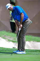 Stewart Cink (USA) watches his putt on 18 during round 2 of the Valero Texas Open, AT&amp;T Oaks Course, TPC San Antonio, San Antonio, Texas, USA. 4/21/2017.<br /> Picture: Golffile | Ken Murray<br /> <br /> <br /> All photo usage must carry mandatory copyright credit (&copy; Golffile | Ken Murray)