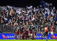 The Barbarians celebrate Sam Anderson-Heather's try during the 2017 DHL Lions Series rugby union match between the NZ Provincial Barbarians and British & Irish Lions at Toll Stadium in Whangarei, New Zealand on Saturday, 3 June 2017. Photo: Dave Lintott / lintottphoto.co.nz