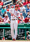 1 August 2018: Washington Nationals outfielder Juan Soto in action against the New York Mets at Nationals Park in Washington, DC. The Nationals defeated the Mets 5-3 to sweep the 2-game weekday series. Mandatory Credit: Ed Wolfstein Photo *** RAW (NEF) Image File Available ***