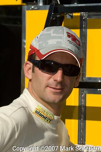 31 August 2007:  Penske Motorsports driver Romain Dumas (FRA) at the Detroit Sports Car Challenge presented by Bosch, Detroit, MI