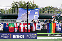 Boston, MA - Friday July 07, 2017: Tony DiCicco's Boston Breakers Pillars of Excellence banner is displayed near the supporters group during a regular season National Women's Soccer League (NWSL) match between the Boston Breakers and the Chicago Red Stars at Jordan Field.