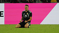 celebrate the goal, Torjubel zum 2:2 Ausgleich Lucas Ocampos (Argentinien, Argentina) - 09.10.2019: Deutschland vs. Argentinien, Signal Iduna Park, Freunschaftsspiel<br /> DISCLAIMER: DFB regulations prohibit any use of photographs as image sequences and/or quasi-video.