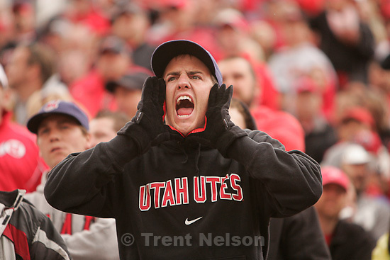 Trent Nelson  |  The Salt Lake Tribune.Fan. during the second quarter, Utah vs. Arizona State, college football at Rice-Eccles Stadium in Salt Lake City, Utah, Saturday, October 8, 2011.