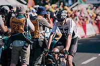 Chris Froome (GBR/SKY) finishing up the Mûr de Bretagne<br /> <br /> Stage 6: Brest > Mûr de Bretagne / Guerlédan (181km)<br /> <br /> 105th Tour de France 2018<br /> ©kramon